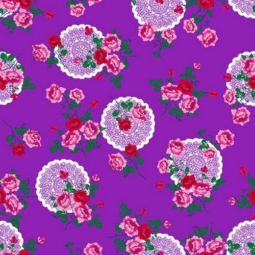 Klebefolie - Möbelfolie - Flowers purple - 45 x 200 cm - Dekorfolie