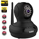 [UPGRADED] MAISI HD 1MP Wireless Security IP Camera with 3dB ENHANCED WiFi, Baby Pet Monitor - Smart Setup In Minutes, Motion Detection Recording,