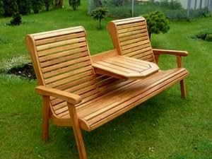 gartenbank teakholzbank holz teak massiv wetterfest kenora tgbk tp wood k che haushalt. Black Bedroom Furniture Sets. Home Design Ideas