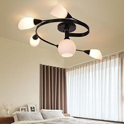 Suspensions Chambre salon étude restaurant LED lampe de plafond Nordic américain pastoral simple élégant verre villa éclairage