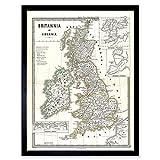 Wee Blue Coo LTD 1865 Spruner Map British Isles England