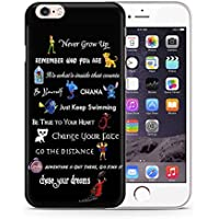 """iPhone 7 Disney Quote Silicone Case / Gel Cover for Apple iPhone 7 (4.7"""") / Screen Protector & Cloth / iCHOOSE / Movie Lines"""