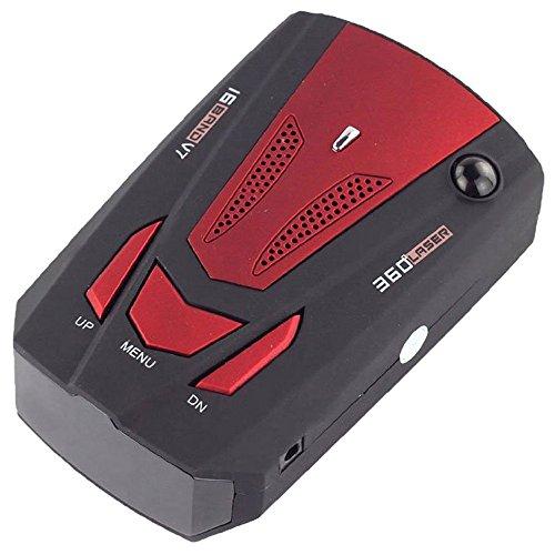 Preisvergleich Produktbild Radar Detektor - TOOGOO(R)V7 LED Anzeige 360 Grad Auto Geschwindigkeitsmesser GPS Radar Detector (Rot)