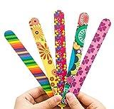 HugeStore 10 Stk Doppelseitig Nagelfeilen Nail Art Maniküre Schleif Polierblöcke Schleifblöcke Bunt