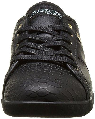 Kappa Damen Lamaze Sneaker Schwarz - Noir (906 Black/Shiny Gold)