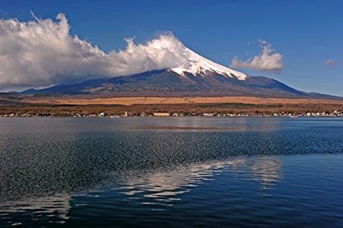 Digitaldruck / Poster Hady Khandani - MOUNT FUJI - YAMANAKA LAKE - JAPAN 5 - 164 x 110cm - Premiumqualität - HADYPHOTO, Fotografie - MADE IN GERMANY - ART-GALERIE-SHOPde (Lake Yamanaka Mount Fuji Japan)