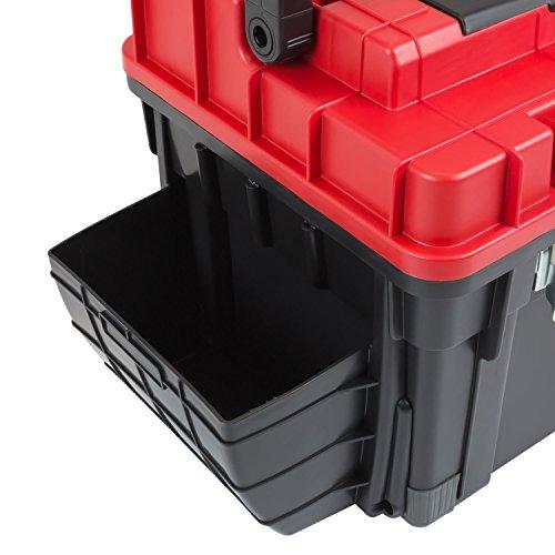 HD Trophy 3 Plus Werkzeugkoffer Box Toolbox Werkzeugkiste 595x345x355 Alugriff schwarz / rot - 8