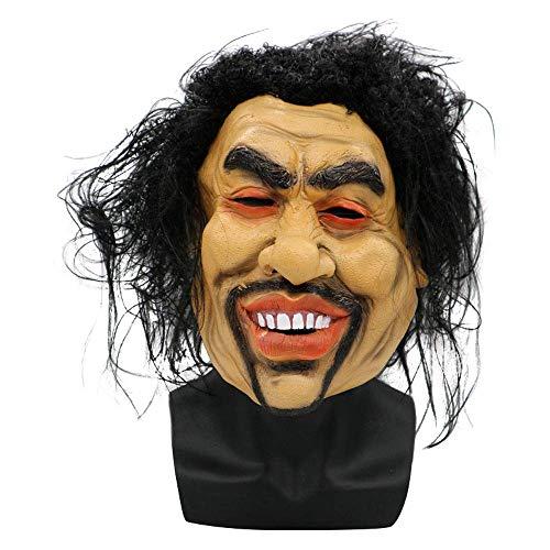 YaPin Simulations-Gesichtsmaske-scharfer Bruder-Bettler-Leistungs-Maske männliche und weibliche Tarnung einfach, realistische und lustige Live-Perücke gegenüberzustellen