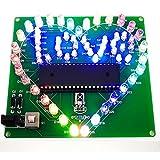 Colorful Loving Herz Licht DIY Geschenk 51SCM Fernbedienung in Herzform Wasser leuchten LED Licht Love Beleuchtung Elektronische DIY Production Kit