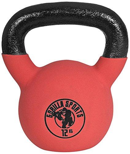 Gorilla Sports Kettlebell Red Rubber, 12kg, 10000491;3