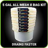 bubblebagdude alle Masche 5Gallonen 8Bag Herbal Hash Ice Extractor Kit–geht mit Drücken Bildschirm und Aufbewahrungstasche