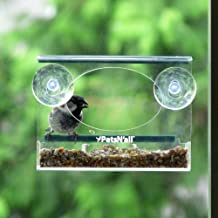 Jaula transparente para alimentar pájaros PetsN'all
