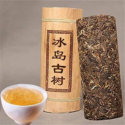 Yunnan Puerh thé Dragon pilier tube de bambou thé brut Islande vieil arbre puer matériel vert nourriture puer thé 500g (1.1LB) thé Pu'er thé vert thé Puer thé chinois sheng cha nourriture saine thé Pu-erh vieux arbres thé Pu erh