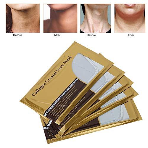 Hals Haut Erneuerung Maske, 5 Stücke Kollagen Anti-aging Hautpflege Maske für Kinn-Lifting Peeling Whitening Straffende Verjüngung Feuchtigkeitsspendende Hydratation - Kollagen-erneuerung
