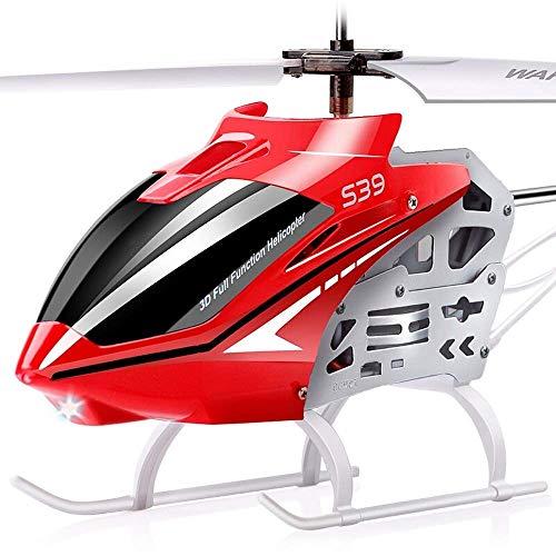 IBalody Mini Metall ferngesteuerte Gyro Hubschrauber Flugzeug Spielzeug RC Flug Infrarot Induktion Flash Flugzeug Spielzeug Gute Bedienung Boy Drone Spielzeug for Kinder ab 6 Jahren (Color : Rot)
