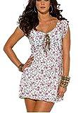 MELROSE Kleid Sommerkleid Gr. 38 weiß mit Blümchen 765214