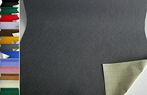 StoffBook EDEL BASTELFILZ FILZSTOFF SELBSTKLEBEND 50CM BREIT STOFF, B791 (grau)