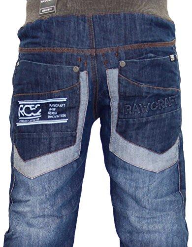 Hommes Rawcraft Skylinx Jeans Tussker-Mid Wash