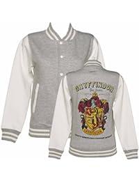 Womens Grey Harry Potter Gryffindor Team Quidditch Varsity Jacket