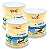 Forever Young Power Eiweiß + Carnitin, 3 x 750g Dose, Vanille