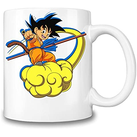 Kid Goku On The Cloud Taza