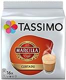 Tassimo Marcilla Cortado, Kaffee, Kaffeekapsel, Bohnenkaffee, Milchkaffee, 16 T-Discs