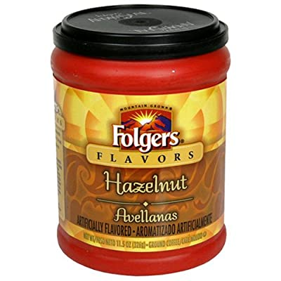 Folgers Flavours Hazelnut Ground Coffee 326g (1 PACK) by The Folger Coffee Company