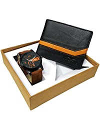 XPRA Analog Watch & Black Leather Wallet for Men/Boys Combo (Pack of 2) - (WCH-WL-1)
