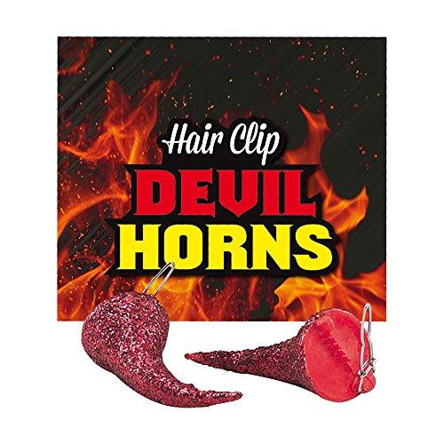 Bristol Novelty ba915Teufel Horn Haar Clips, One ()