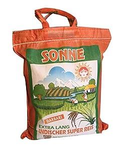 Basmati Reis Sonne Extra Lang Khorshid Darbari 10 KG super langkorniger Reis...