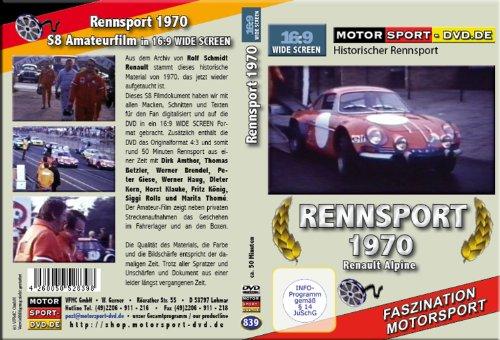 Preisvergleich Produktbild Rennsport 1970 Renault Alpine DVD 839 in 16:9 Format