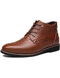 Botas de Cuero de los Hombres, gracosy Hombres Calzados Oxford Zapatos De Capucha Patrón Cocodrilo Botas Martin…