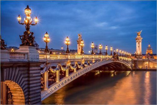 Tableau en PVC 30 x 20 cm: Pont Alexandre III in Paris de Jan Christopher Becke
