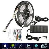 5M Zwei Reihen LED Streifen Lichterkette (RGB+Warmweiß) 600 LEDs (SMD 5050) Led Band Lichtleiste Mit Wifi RF Fernbedienung,10A 120W Netzteil Trafo