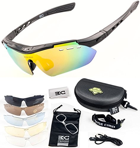 FreeMaster – Gafas de ciclismo con lentes polarizadas, gafas de sol para deporte, antiniebla, protección UV400, para conducir motocicletas, bicicletas de montaña, senderismo