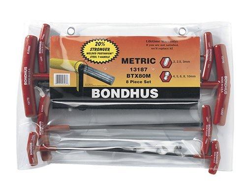 Bondhus 13187 Set of 8 Balldriver and Hex T-handles, sizes 2-10mm by Bondhus - Balldriver-hex-tool