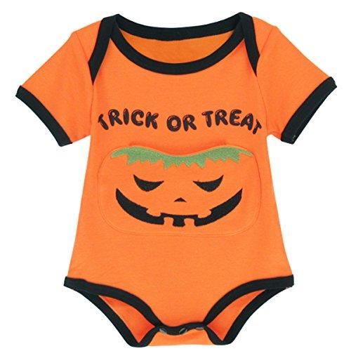 Mombebe Baby Jungen Mädchen Halloween Kürbis Kostüm Bodys -