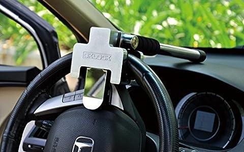 FuriAuto Antivol Voiture Volant Serrure Voiture Dispositif de Blocage pour Volant//Pedale T6
