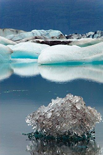 Artland Wandbilder selbstklebend aus Vliesstoff oder Vinyl-Folie Frauke Scholz Gletschersee Landschaften Gewässer See Fotografie Blau C9DW
