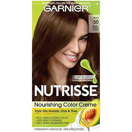 Garnier Crème colorante Nutrisse Cream - Une couleur exceptionnellement riche et durable - Enrichie d'huiles d'avocat et de pépins de raisin - 50 Cèdre (Châtain naturel moyen)