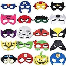 RioRand Maschere di Supereroi Superhero Mask con Corda Elastica 20 Pezzi  Cosplay Feltro Maschere per Bambini 28633f7363ed
