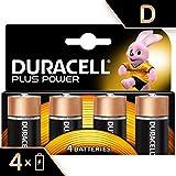 Duracell Batterie Alcaline Plus Power D, Confezione da 4, il Design della Confezione Potrebbe Cambiare