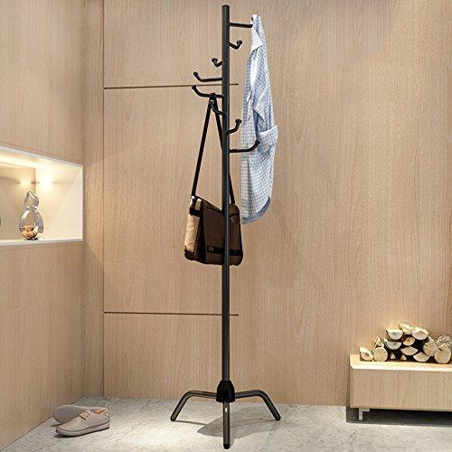 l Xiaolin Zusammenklappbare Einfache Hut-Gestell-Abwehr-Raum-Haushalts-Aufhänger Moderne Feste Holz-Mode-Multifunktions-Kleidungs-Hut-Gestell 181 * 41CM (Farbe : Schwarz) (Zusammenklappbare Hut Schwarz Für Erwachsene)