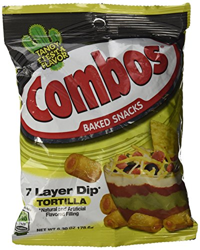 Combos 7 Layer Dip Tortilla Baked Snacks 6.30 oz by Combos