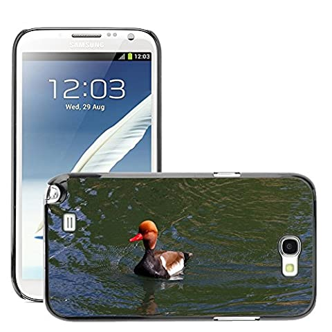 Just Phone Cover Hard plastica indietro Case Custodie Cover pelle protettiva Per // M00139732 Pochard Red Headed Pochard Canard // Samsung Galaxy Note 2 II N7100