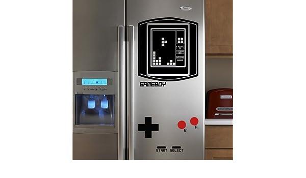 Retro Kühlschrank Diy : Geckoo kühlschrank vinyl falling blocks aufkleber boy retro game
