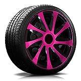 15 Zoll RKK04 Multi-Color Line (Schwarz-Pink ) Radkappen / Radzierblenden 4 Stück