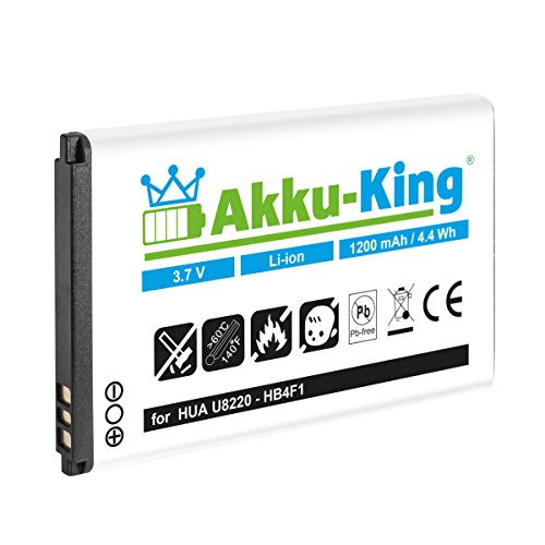 Akku-King Akku für Huawei U8220, E5331, E5830, E5832, E6939, E583X, U8000, U9120, U8230, Trekstor WLAN, T-Mobile Pulse, XSBoX GO - ersetzt Li-Ion HB4F1, BLT005, HWBAF1 - 1200mAh