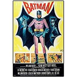 Póster de Batman 3 1966 A3 de Adam West Lee Meriwether Burt Ward, película Colorida, Foto Antigua, impresión Retro