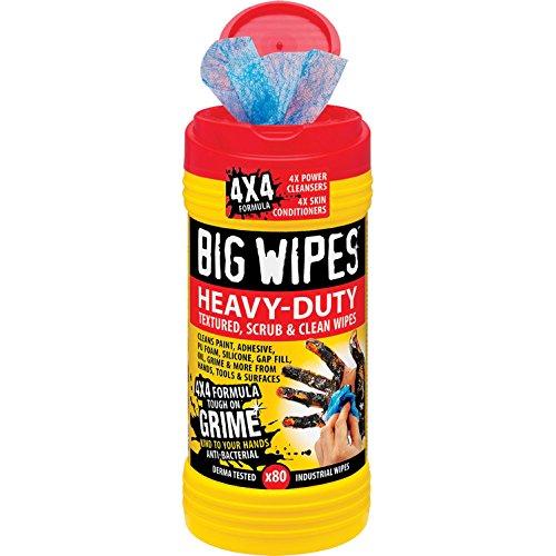 Preisvergleich Produktbild Big Wipes Red Top 4x4 Heavy Duty Hand Cleaners Tub of 80